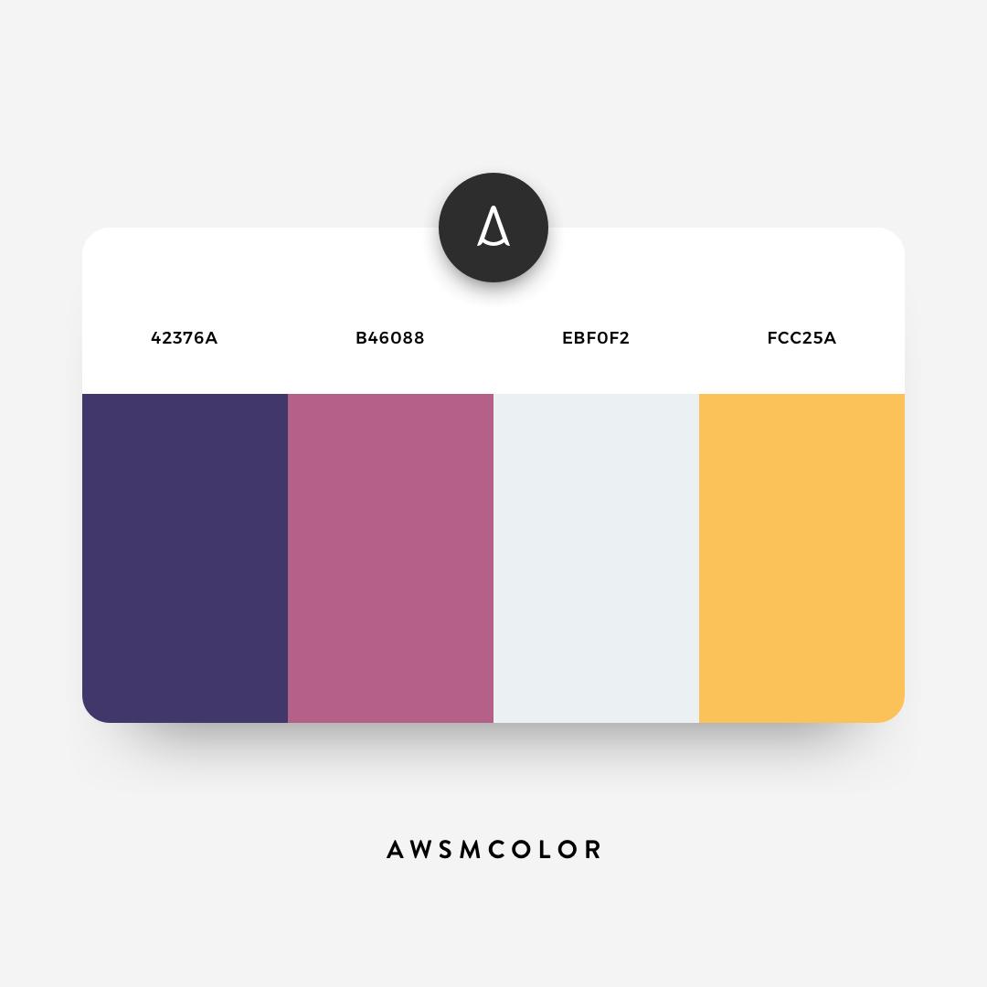 Dark blue, purple, orange color shades, palettes, combinations, schemes