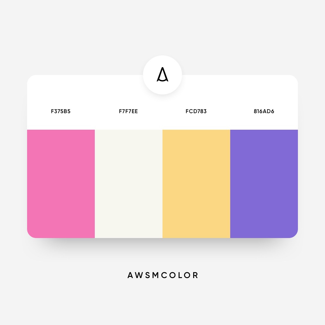 Pink, orange, purple color shades, palettes, combinations, schemes