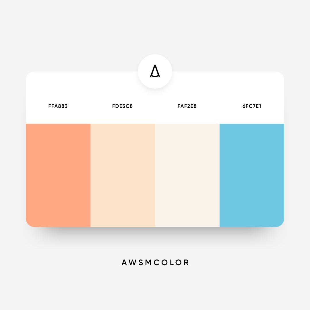 Orange & blue color shades, palettes, combinations, schemes