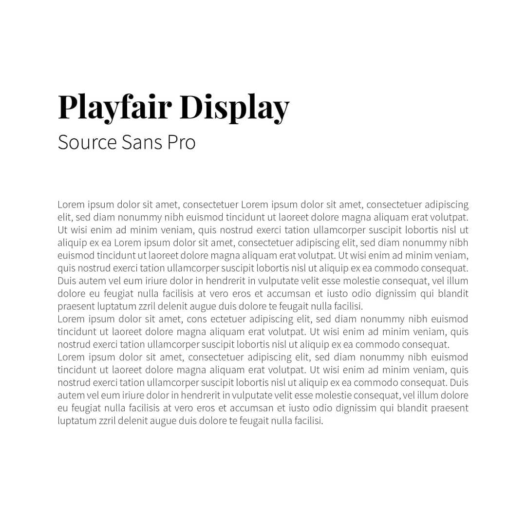Best font combinations and typeface pairings - Playfair Display / Source Sans Pro