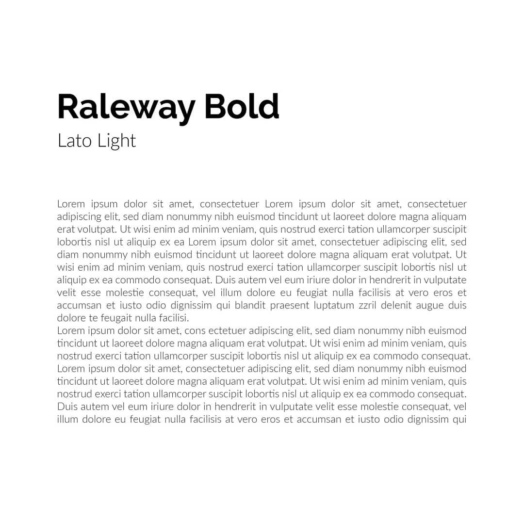 Best font combinations and typeface pairings - Raleway Bold / Lato Light
