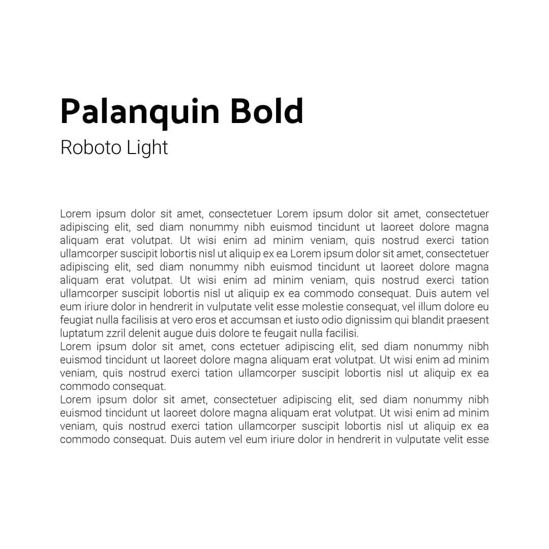 Best font combinations and typeface pairings - Palanquin Bold / Roboto Light