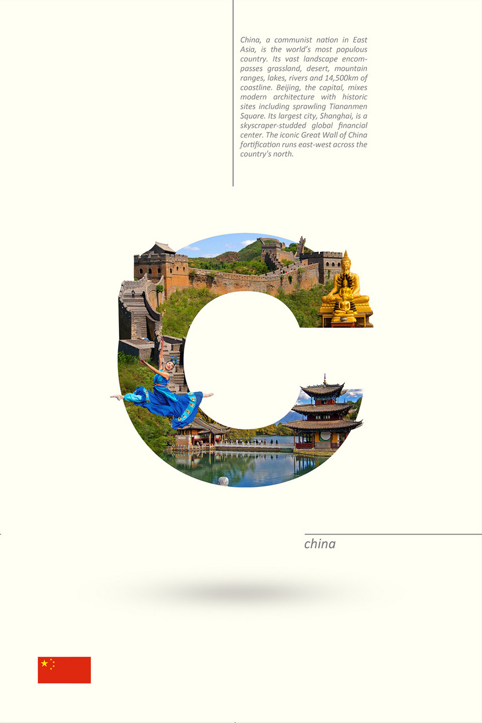 Beautiful Alphabet Series Of Countries And Their Iconic Landmarks - China