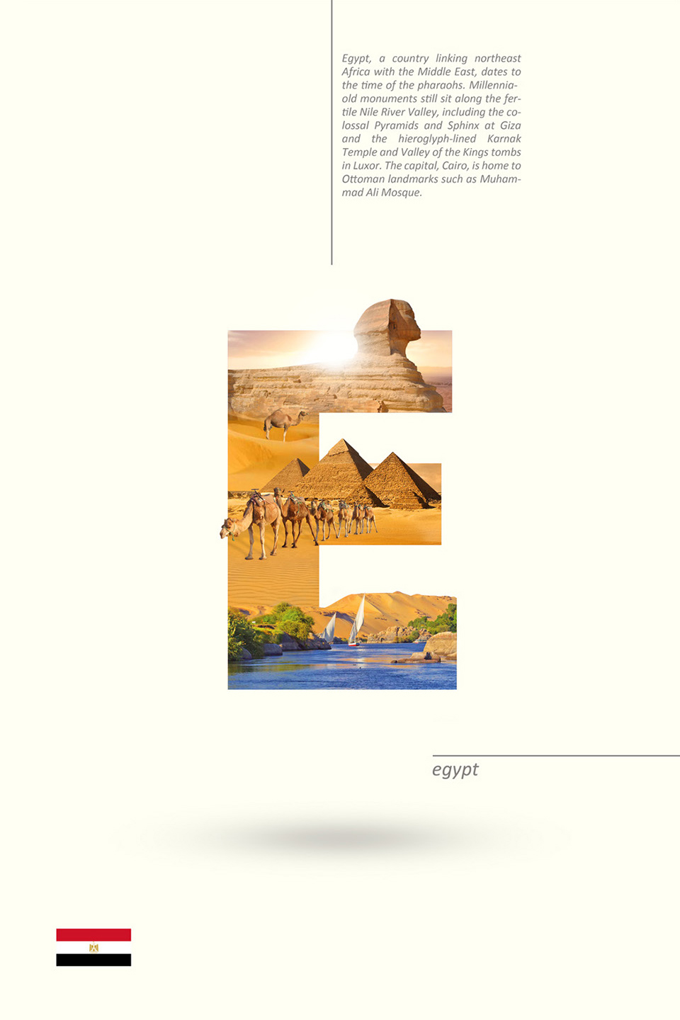 Beautiful Alphabet Series Of Countries And Their Iconic Landmarks - Egypt