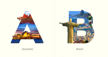 Beautiful Typographic Alphabet Series Of Countries And Their Iconic Landmarks