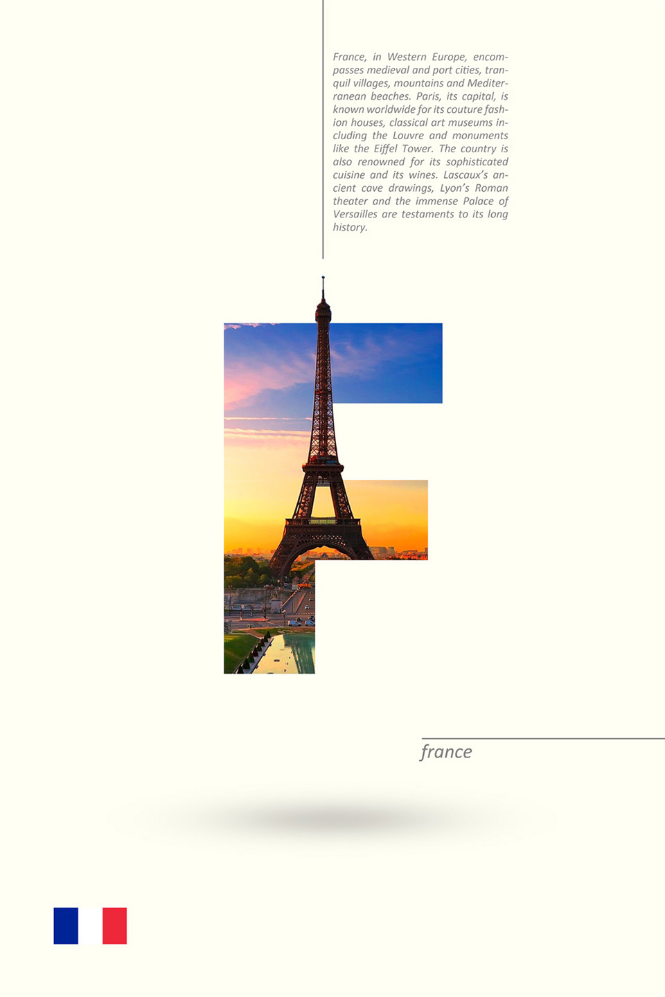 Beautiful Alphabet Series Of Countries And Their Iconic Landmarks - France