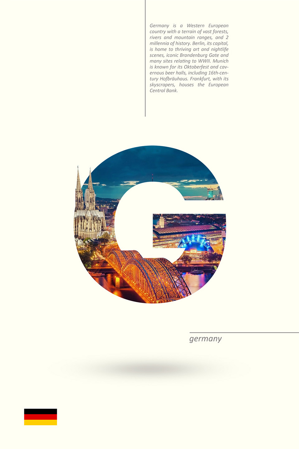 Beautiful Alphabet Series Of Countries And Their Iconic Landmarks - Germany