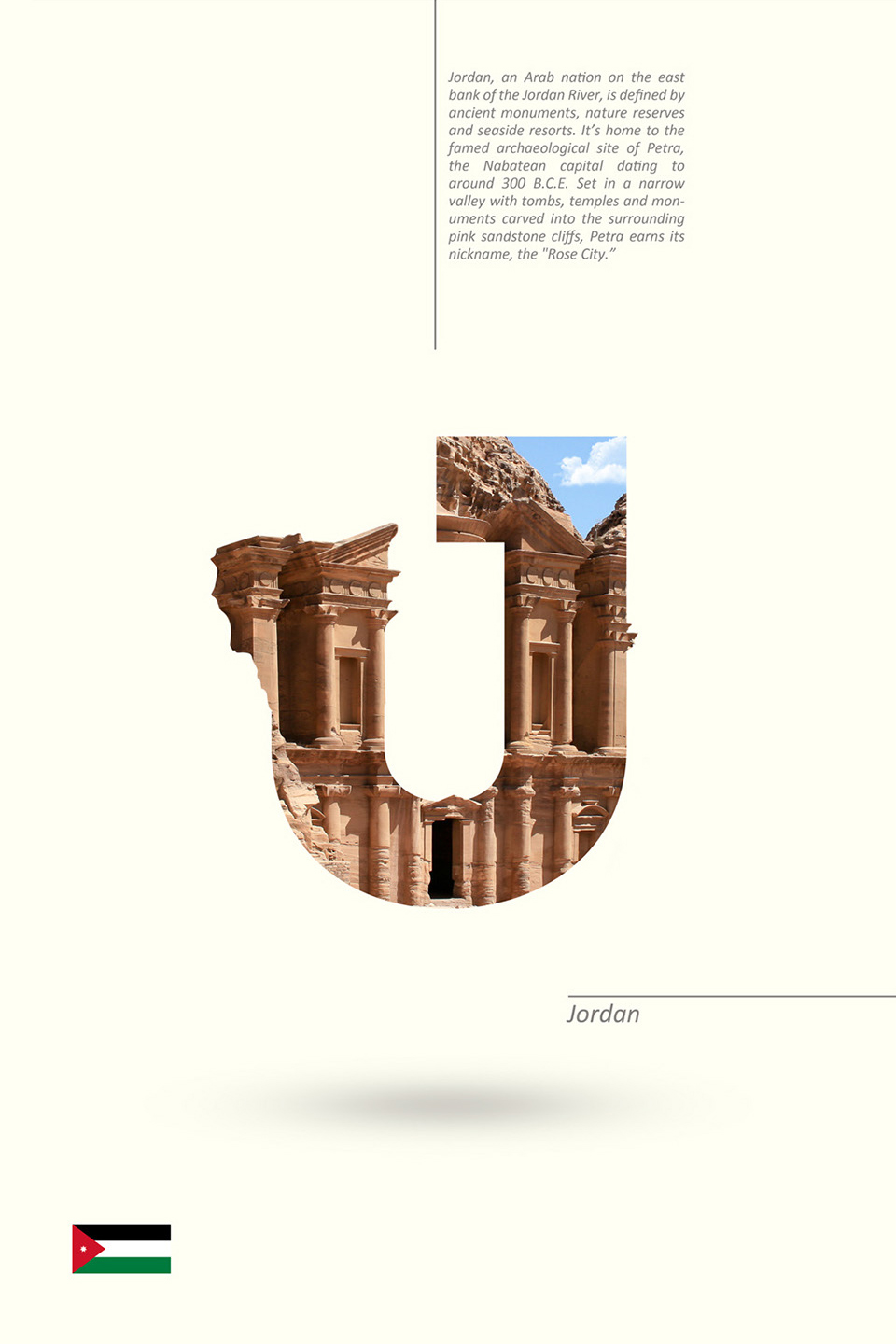 Beautiful Alphabet Series Of Countries And Their Iconic Landmarks - Jordan