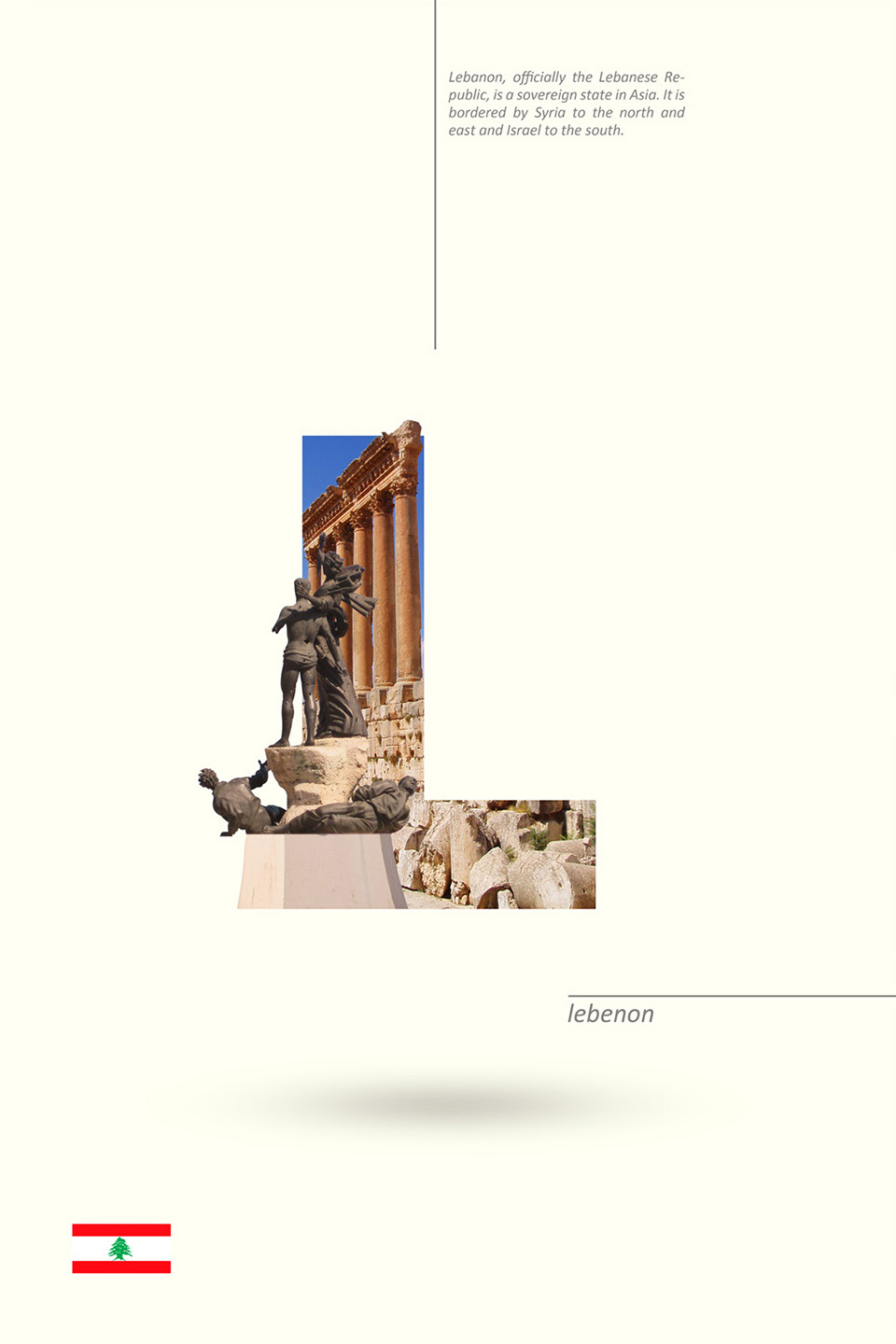 Beautiful Alphabet Series Of Countries And Their Iconic Landmarks - Lebanon