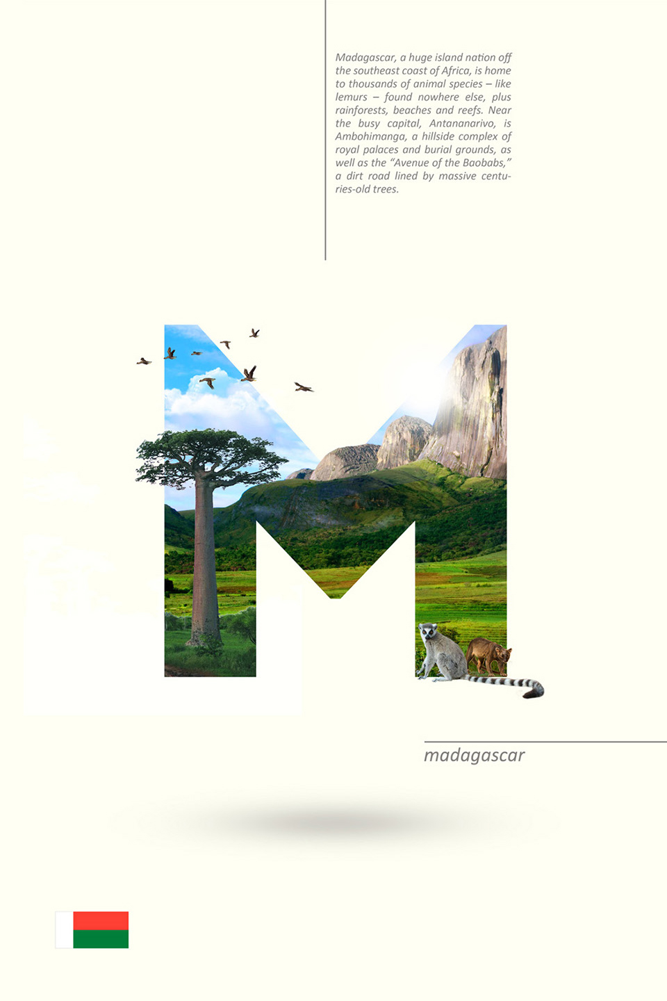 Beautiful Alphabet Series Of Countries And Their Iconic Landmarks - Madagascar