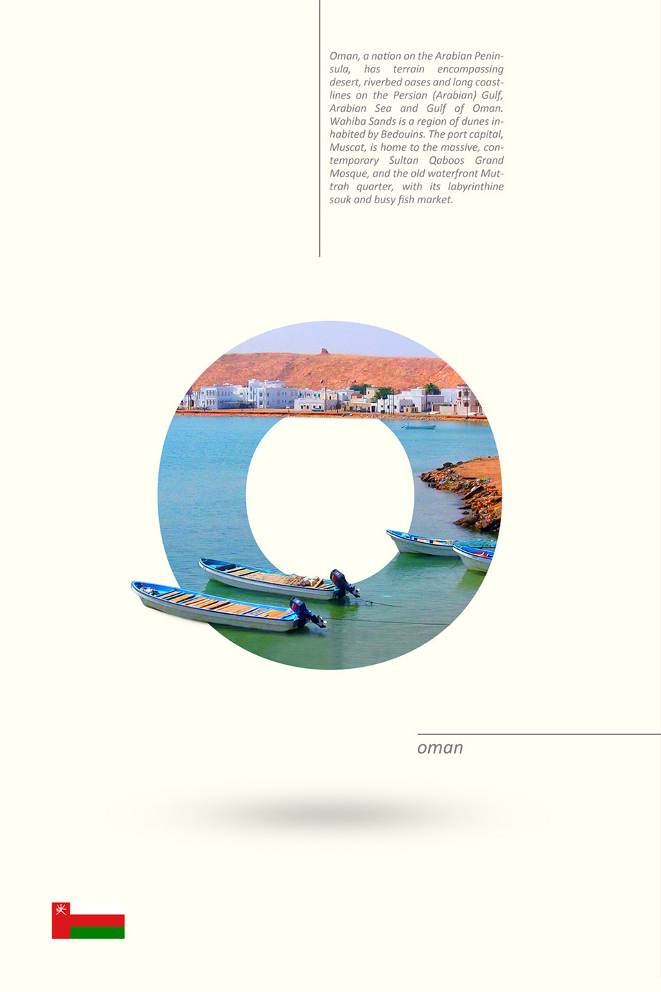 Beautiful Alphabet Series Of Countries And Their Iconic Landmarks - Oman