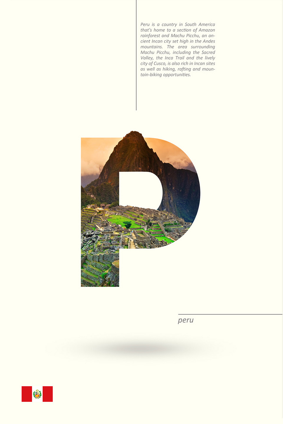 Beautiful Alphabet Series Of Countries And Their Iconic Landmarks - Peru