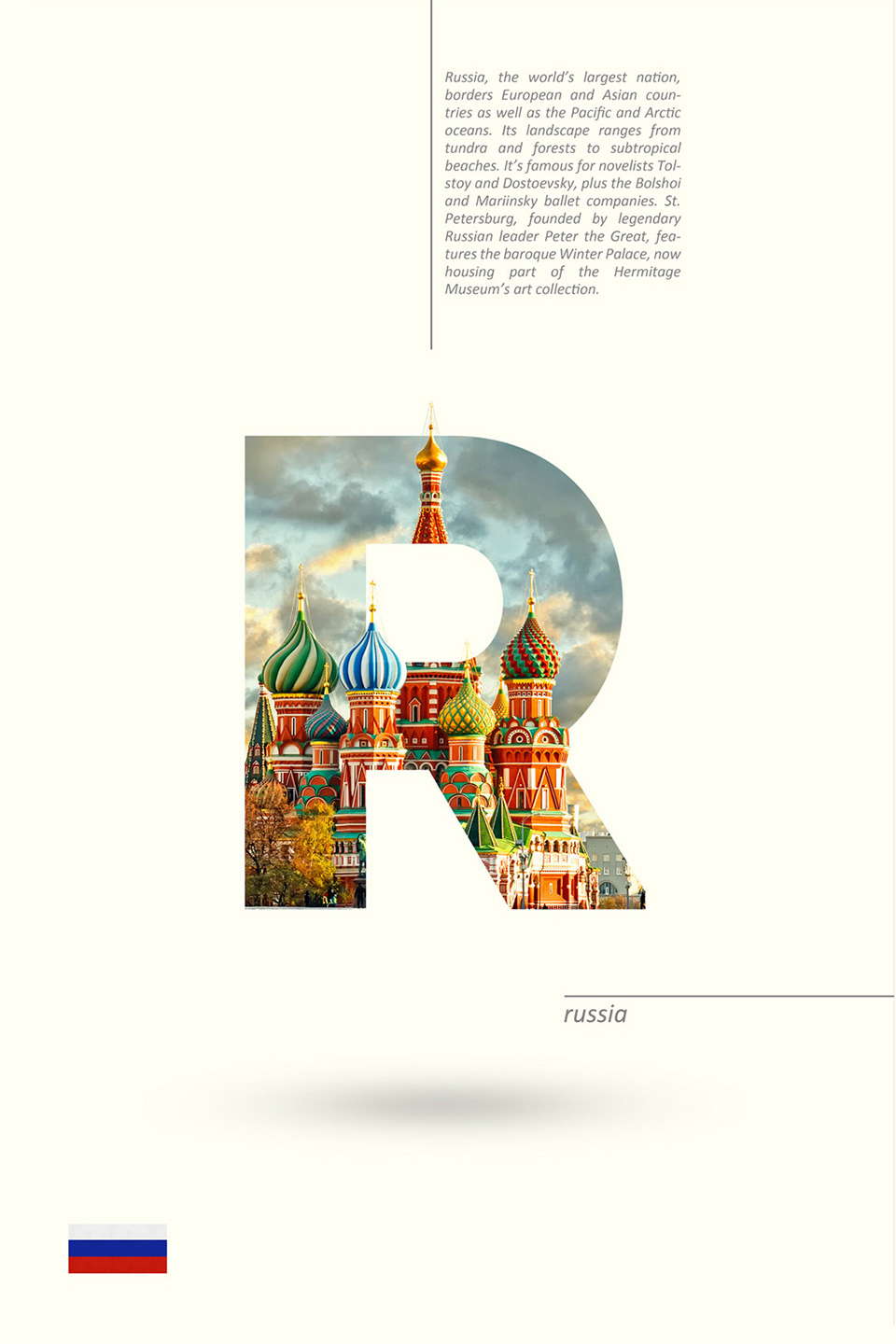 Beautiful Alphabet Series Of Countries And Their Iconic Landmarks - Russia