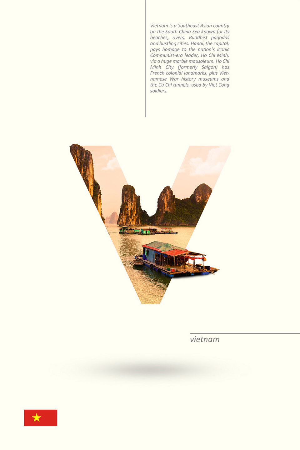 Beautiful Alphabet Series Of Countries And Their Iconic Landmarks - Vietnam