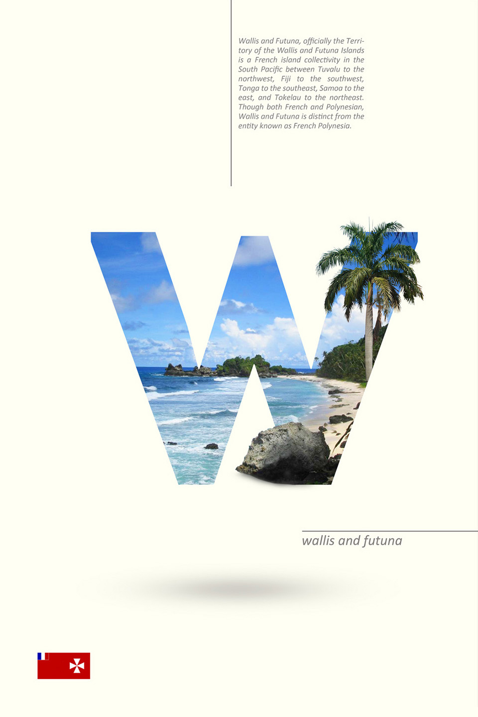 Beautiful Alphabet Series Of Countries And Their Iconic Landmarks - Wallis and Futuna
