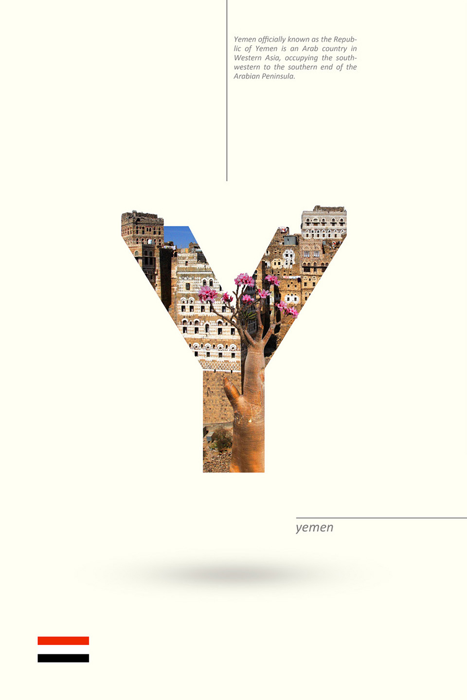 Beautiful Alphabet Series Of Countries And Their Iconic Landmarks - Yemen