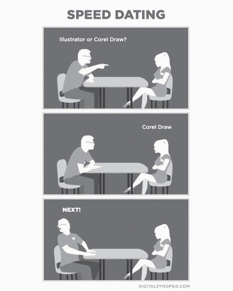 Speed Dating: Illustrator or Corel Draw?
