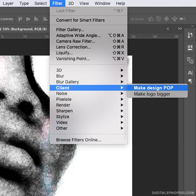 Photoshop Filter: Client - Make design POP