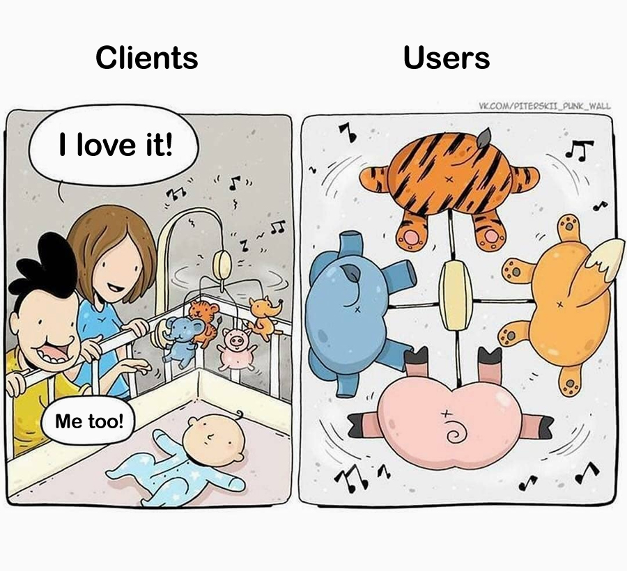 Clients vs Users: Baby Toy