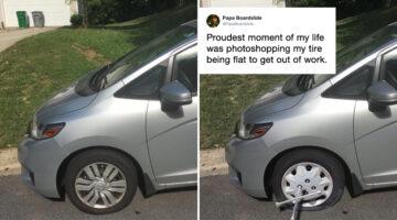 man-photoshops-flat-tire-to-skip-work
