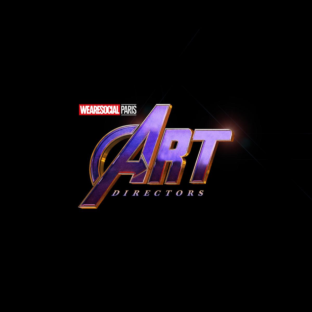 Superhero Logos for creative agency job titles - Art Directors / The Avengers