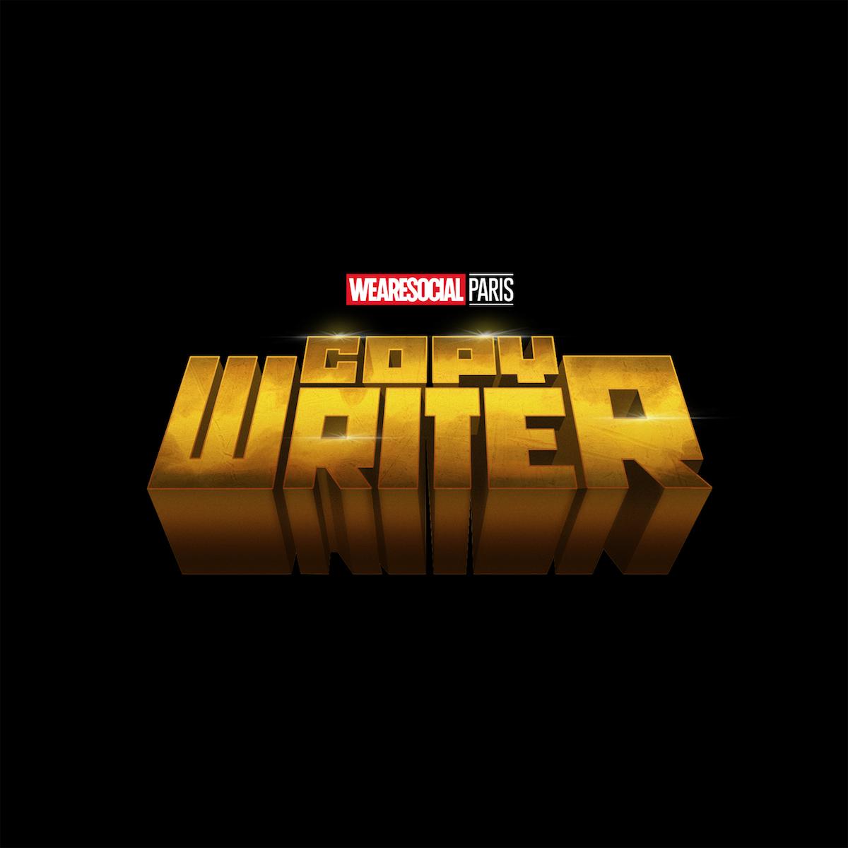 Superhero Logos for creative agency job titles - Copywriter / Luke Cage