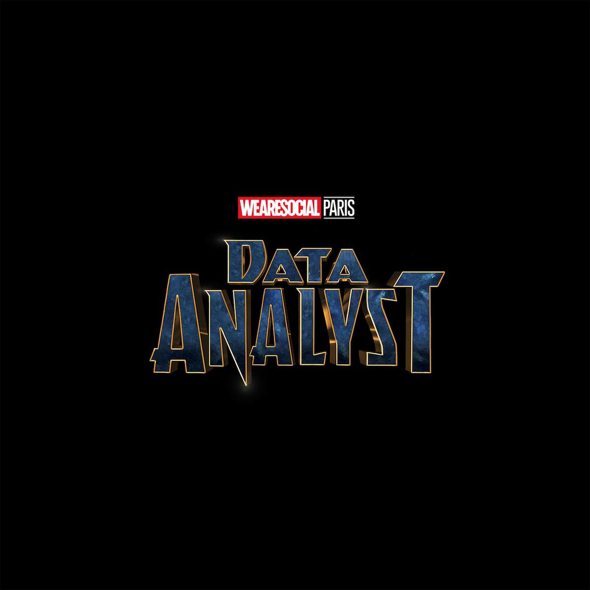 Superhero Logos for creative agency job titles - Data Analyst / Black Panther