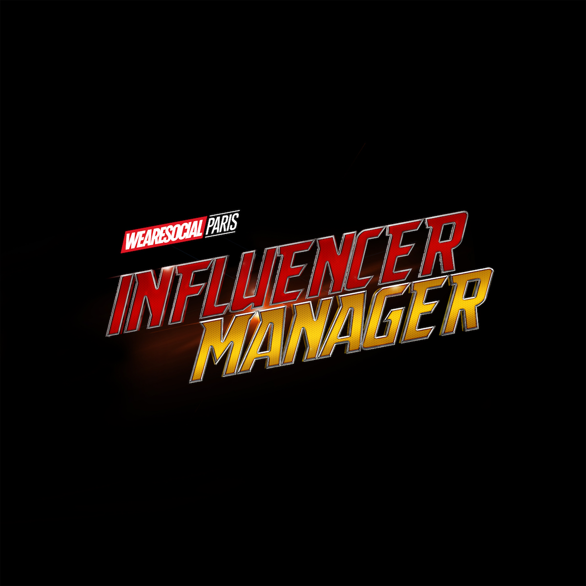 Superhero Logos for creative agency job titles - Influencer Manager / Ant-Man