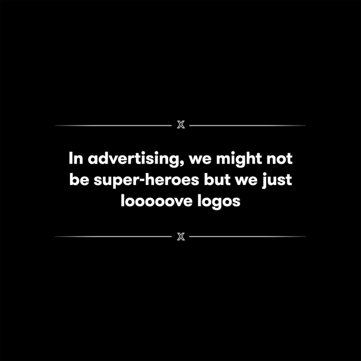 Superhero Logos for creative agency job titles -