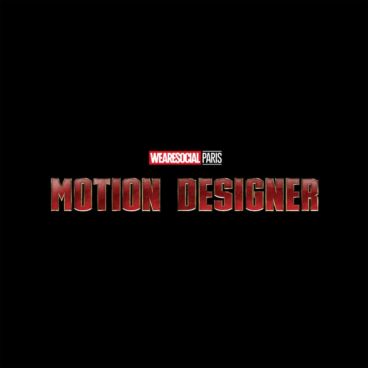 Superhero Logos for creative agency job titles - Motion Designer / Iron Man