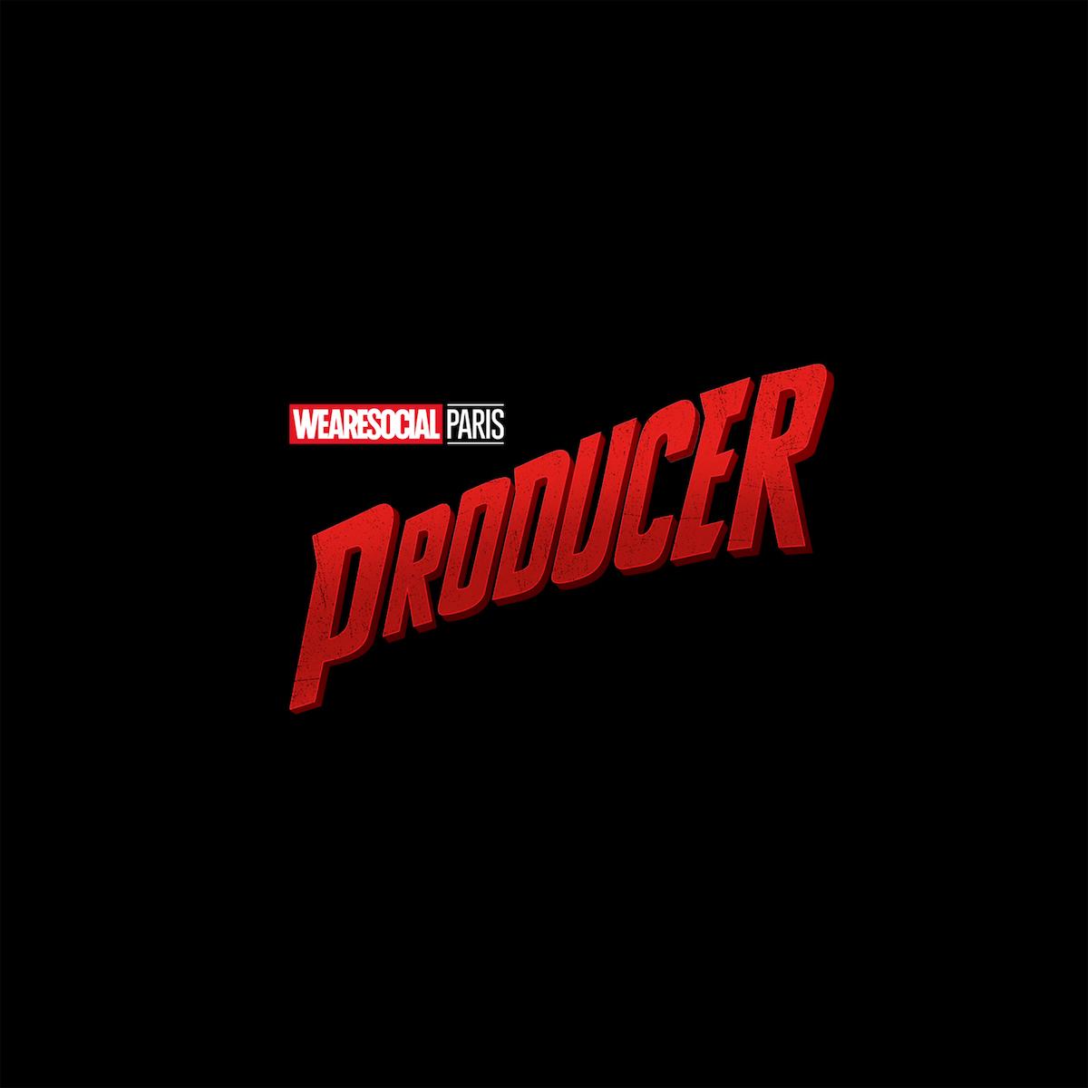Superhero Logos for creative agency job titles - Producer / Daredevil