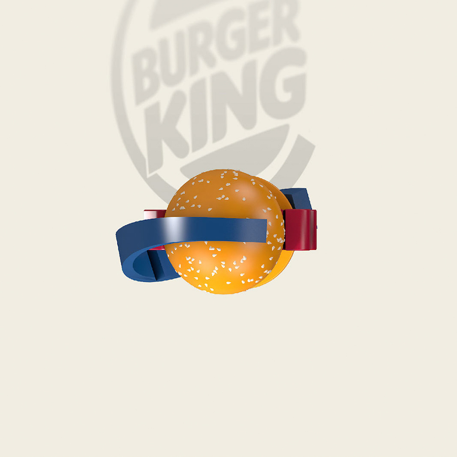 Bird's Eye Of Famous Logos - Burger King