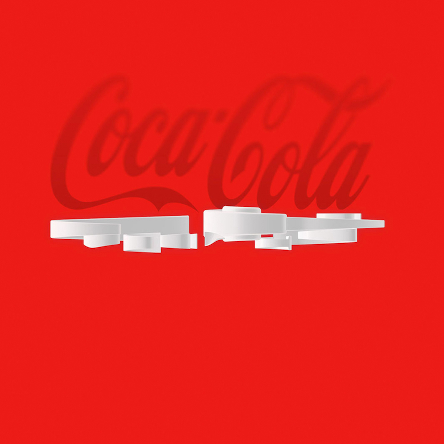 Bird's Eye Of Famous Logos - Coca-Cola