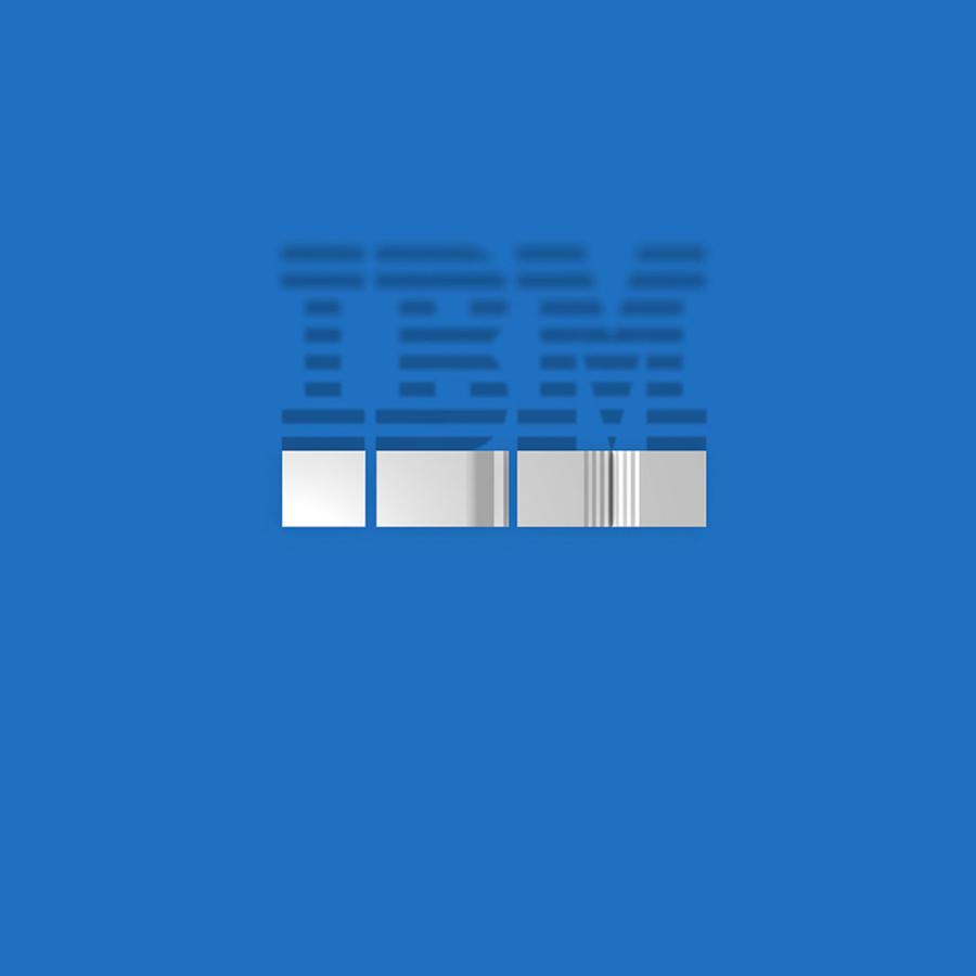 Bird's Eye Of Famous Logos - IBM