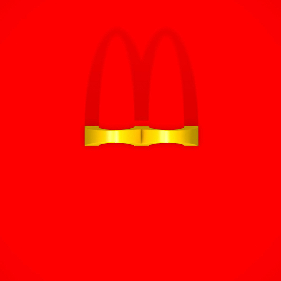 Bird's Eye Of Famous Logos - McDonald's