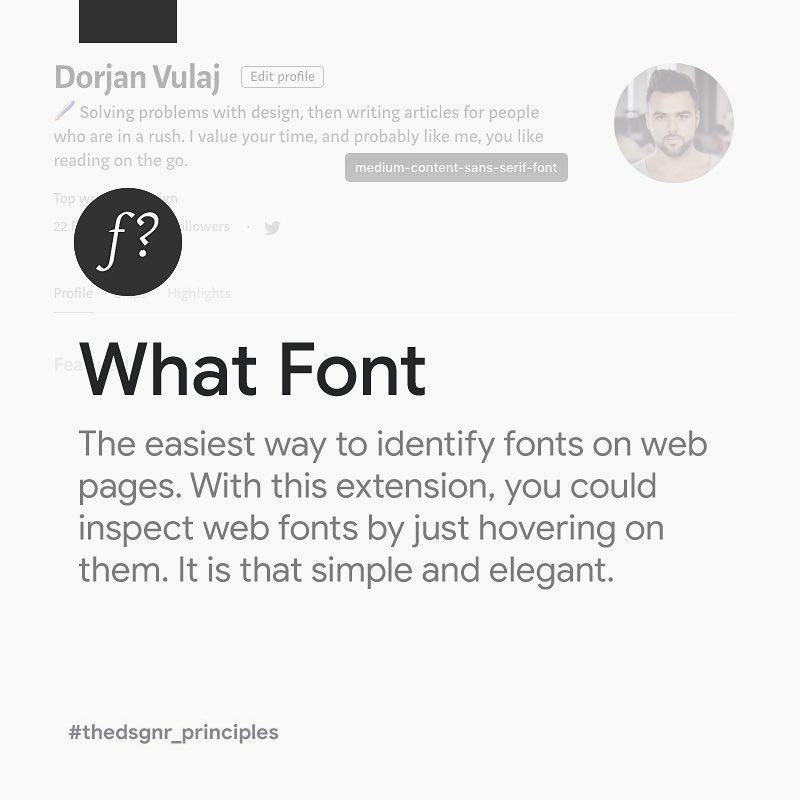 Chrome Extensions for Designers - What Font