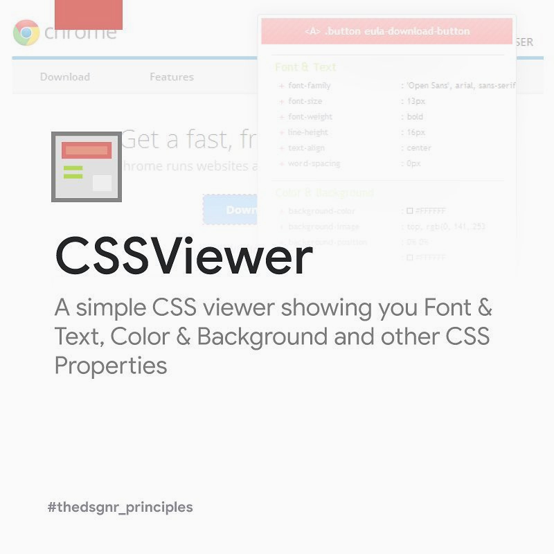 Chrome Extensions for Designers - CSSViewer