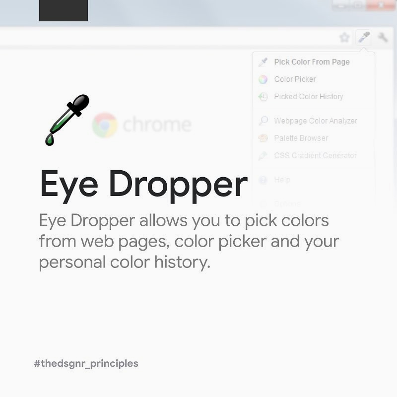 Chrome Extensions for Designers - Eye Dropper