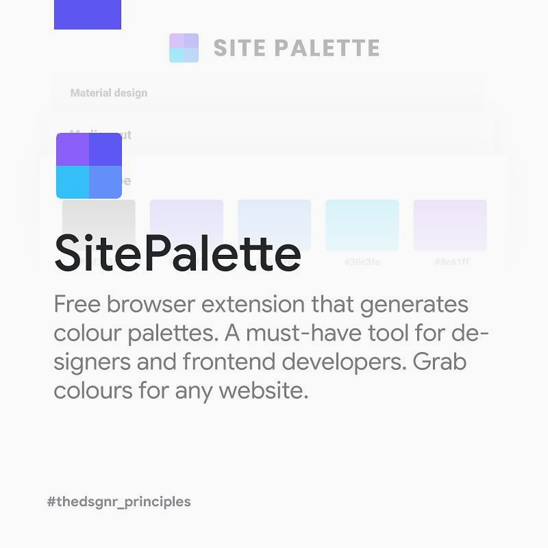 Chrome Extensions for Designers - SitePalette