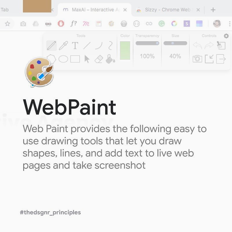 Chrome Extensions for Designers - WebPaint