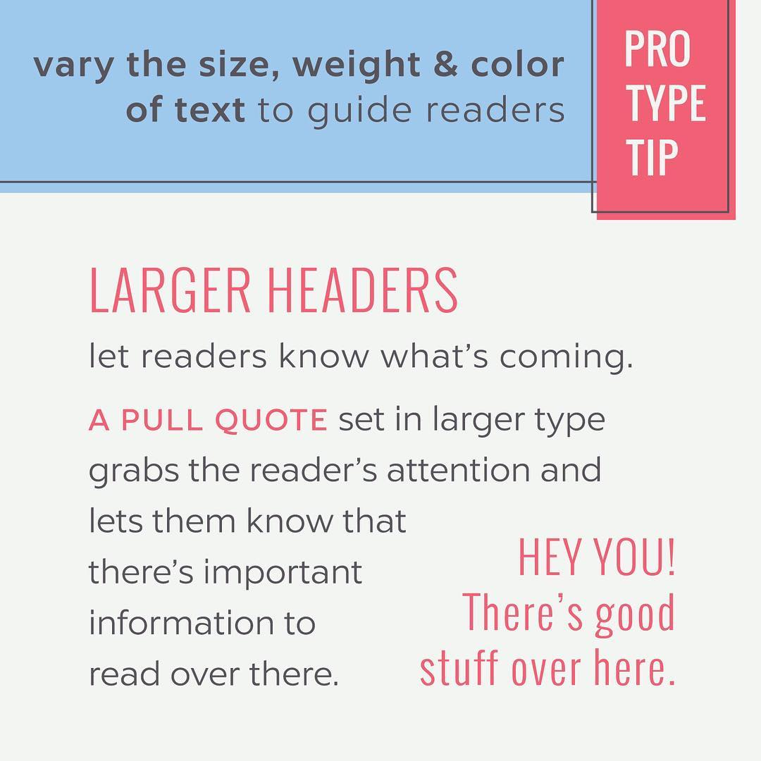 Typography Tips - 3