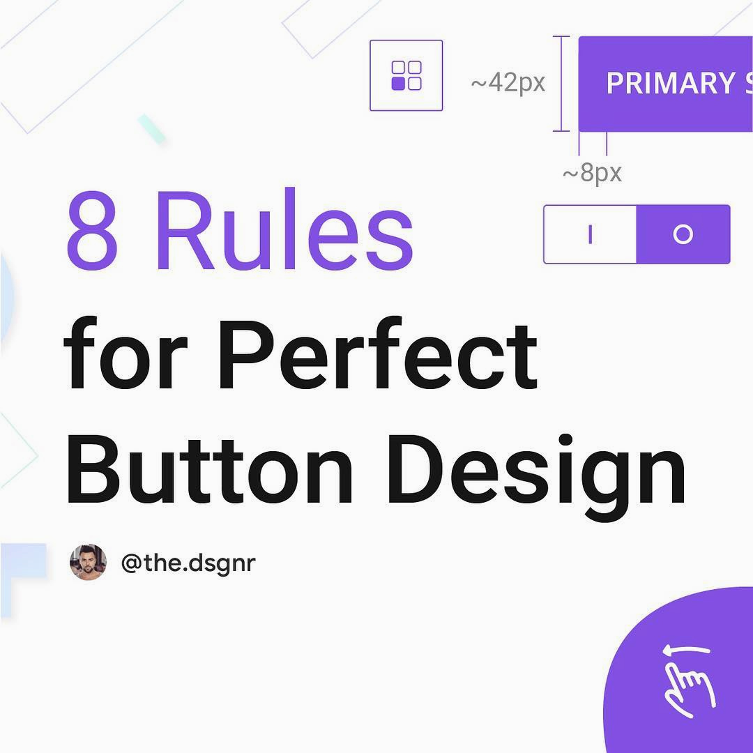 8 Rules For Perfect Button Design