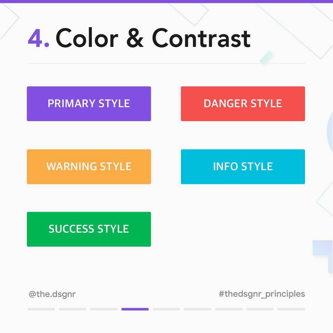 8 Rules For Perfect Button Design - Color & Contrast