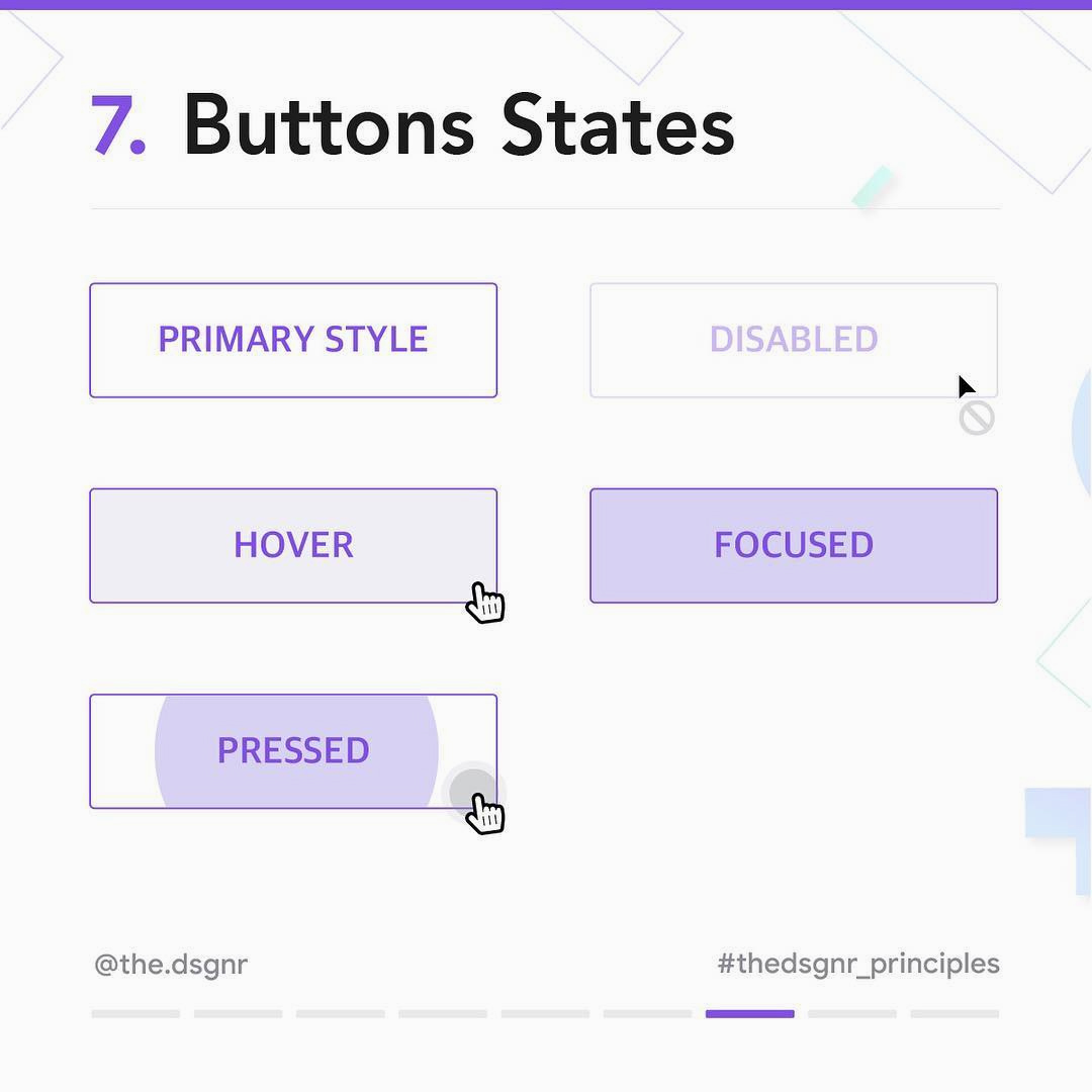 8 Rules For Perfect Button Design - Buttons States