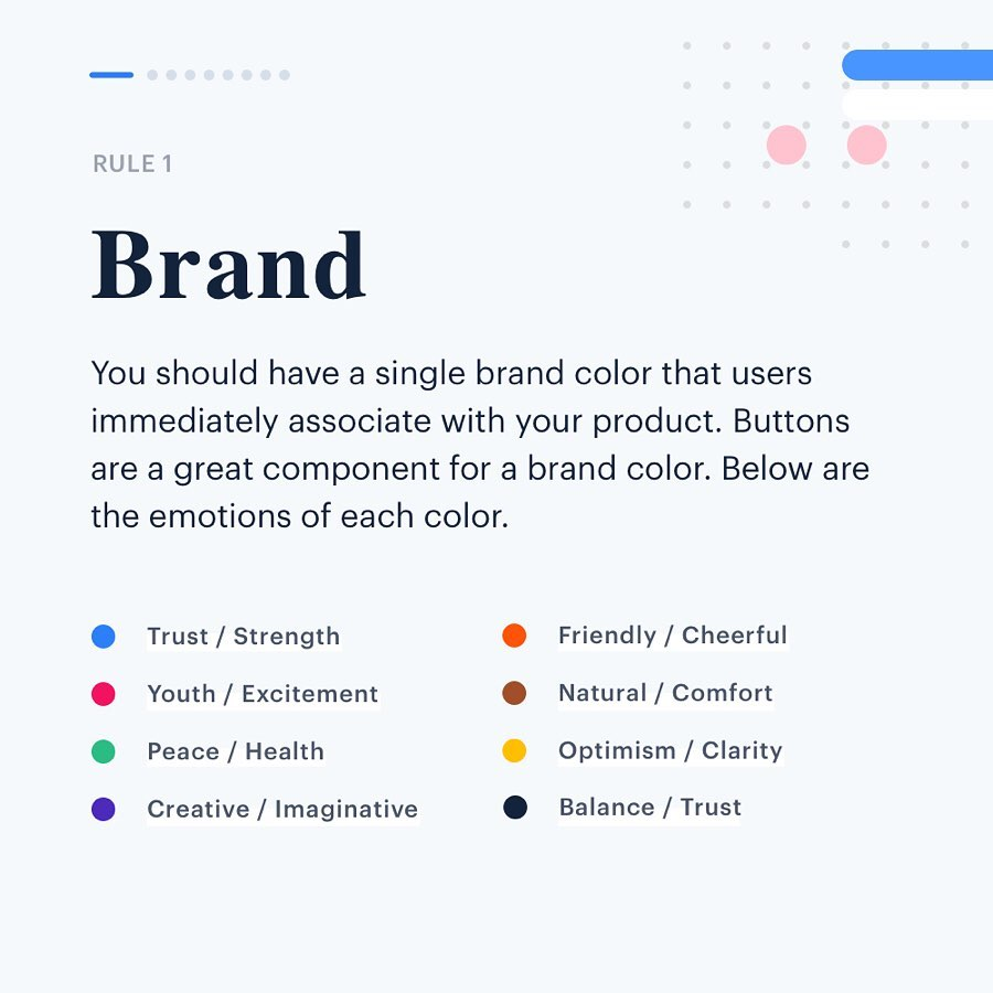 Color Rules for UI Design - Brand
