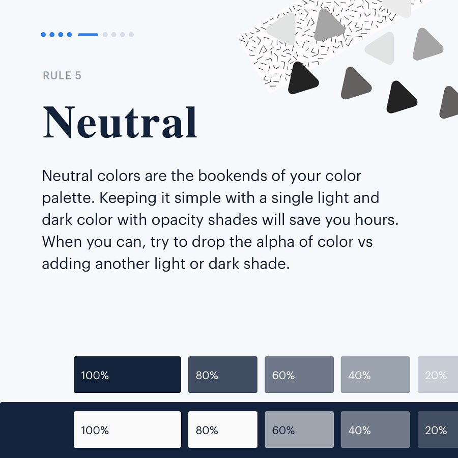Color Rules for UI Design - Neutral