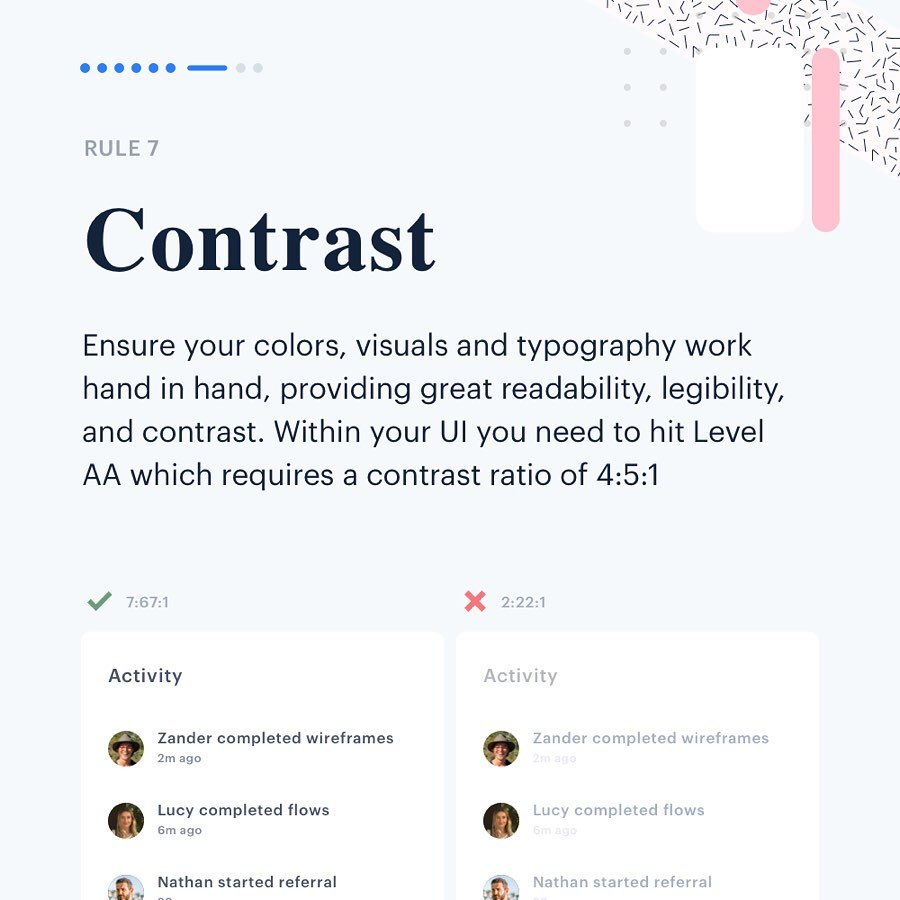 Color Rules for UI Design - Contrast