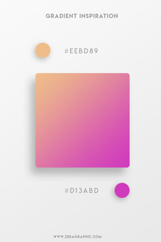 Beautiful Gradient Color Palettes - Orange & Pink