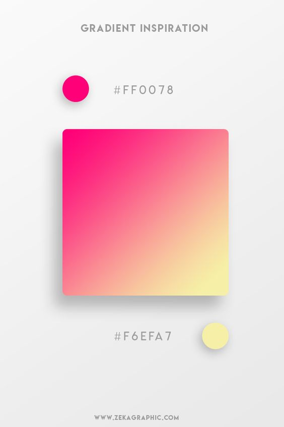 Beautiful Gradient Color Palettes - Pink & Yellow