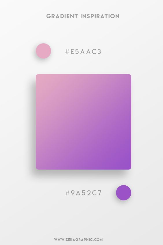 Beautiful Gradient Color Palettes - Lilac & Purple
